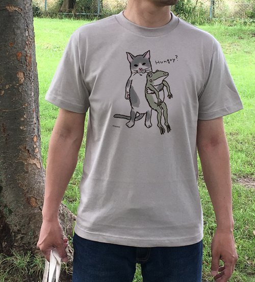 Cats and frog T-shirts Takayoshi Men's unisex