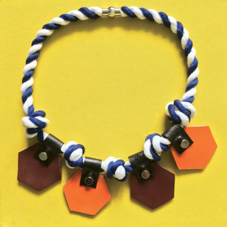 Sonniewing's Hexagon Leather Rope Necklace (Last One)
