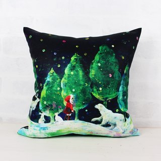 Glimmering Forest Light の る 森 で - Home Decor Home Decor Pillow Home Furnishings Interior Design Car Pillow Lunch Pill Gift-Yoko Sueyoshi 末 吉 阳子