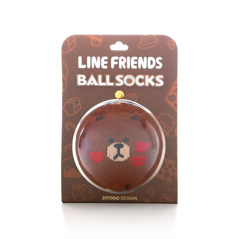 LINE FRIENDS socks _ Xiong lip