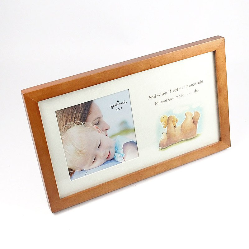 US cherish the baby and love you as much as I can [Hallmark-gift wooden photo frame]