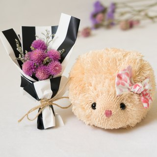 Soft little hedgehog with dry bouquet - PeachPuff
