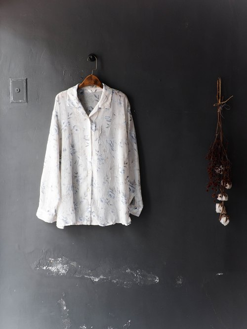 Heshui Mountain - Yamagata White Grey Blue Youth Weekend Dating Day Antique Silk Turtleneck Shirt Top shirt oversize vintage