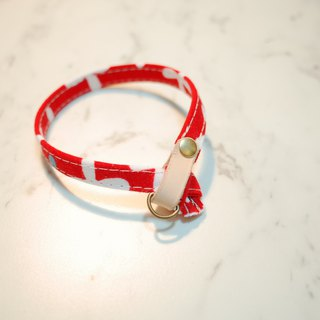 Cat collar red bamboo 蜻蜓 planting 楺 skin with bells can add purchase tag