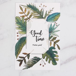 Good Time Botanical Instax Photo Frame Card - Tropical