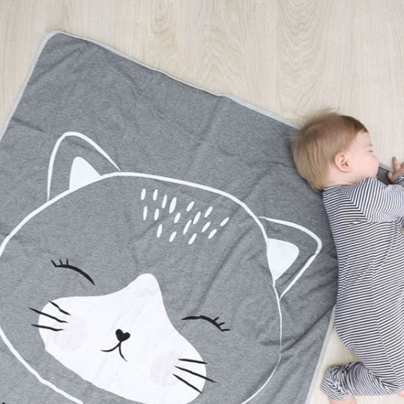 Mister Fly Baby Sleeping Blanket - Grey Kitten MFLY196