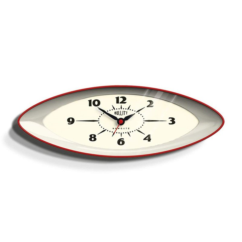 British style table clock - Brest - England Red -15.8cm x 45cm