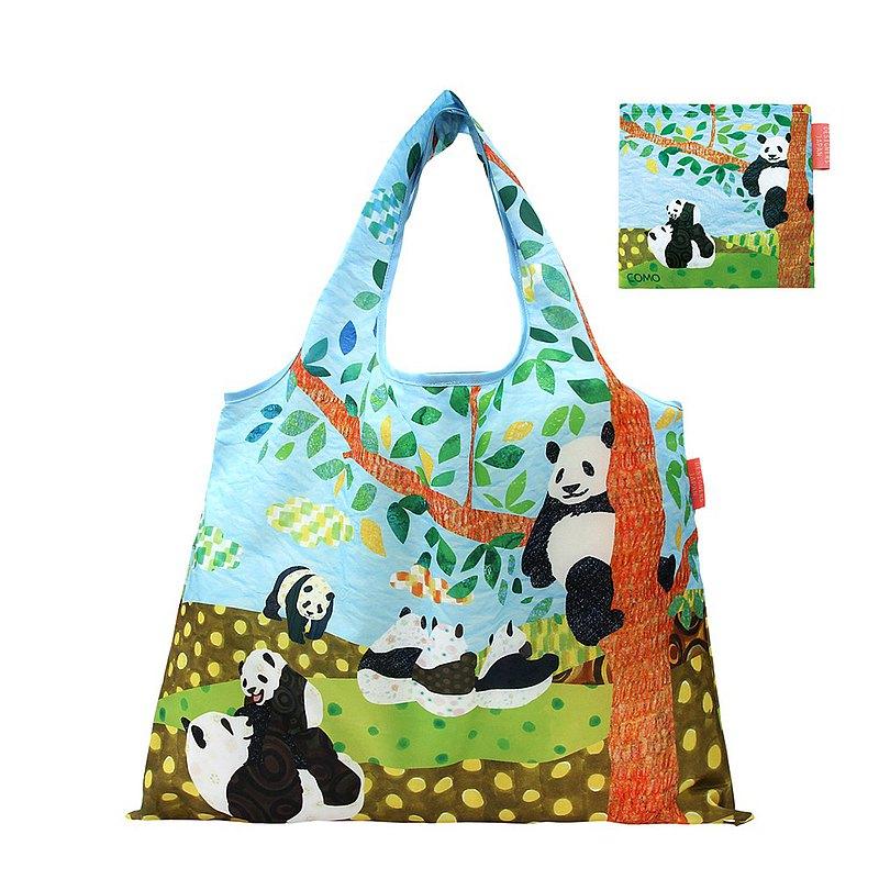 日本 Prairie Dog 設計包/環保袋/購物袋/手提袋 - 貓熊的午後