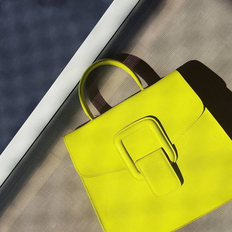 PINCH NO.1 (Neon 26 inches) Classic and Iconic Leather Handbag/Crossbody