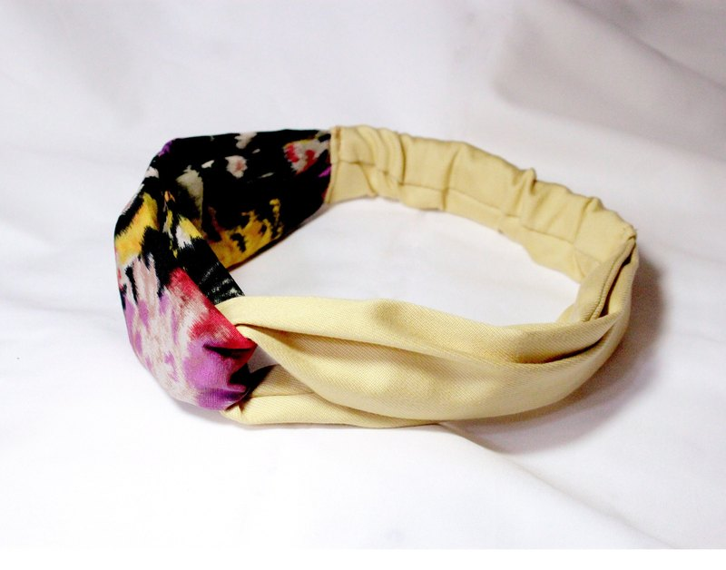Bicolor Painting Hair Band