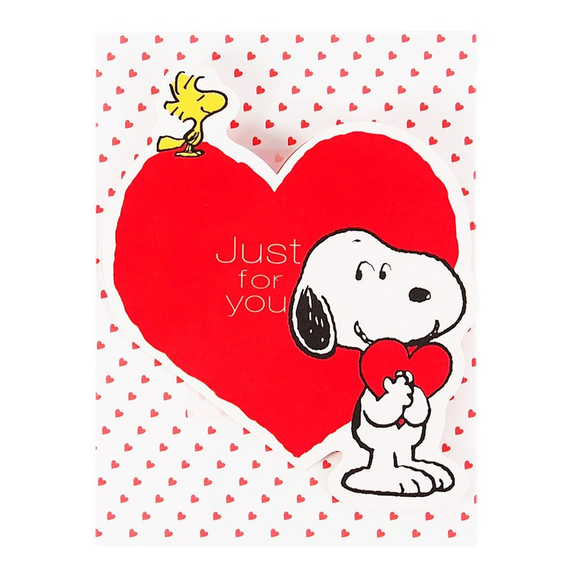 Snoopy loves you [Hallmark-Peanuts - Stereo card]