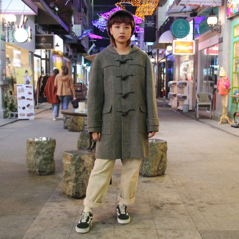 Tsubasa.Y vintage house double-faced cashmere button coat 004, Duffle Coat