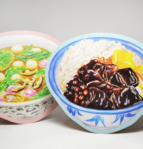 Shape Illustration Postcard - Hakka Food Set
