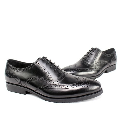 Sixlips British wing full carved Oxford shoes black