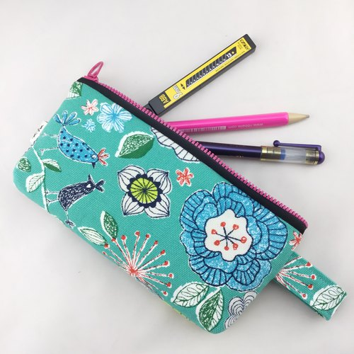 Bird language flower lake water green - pen bag