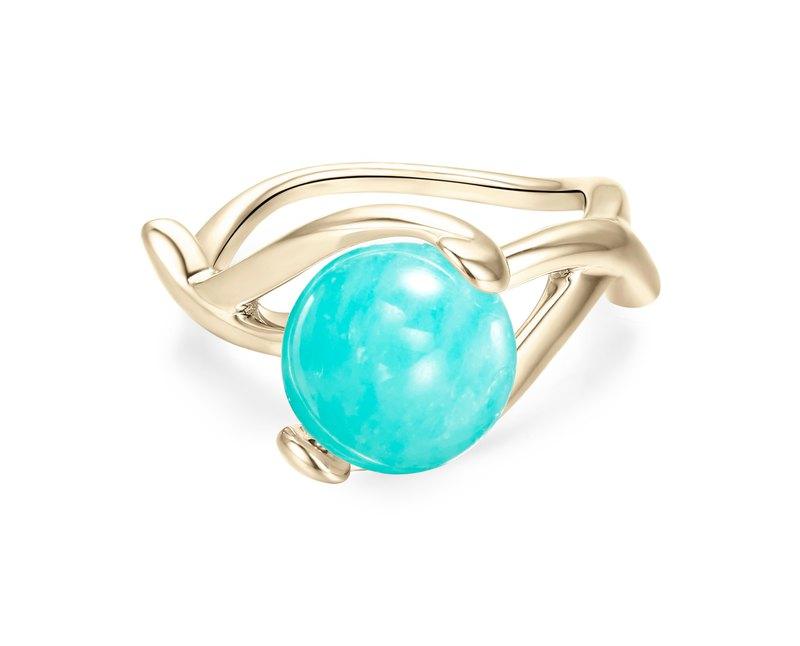 天河石純銀戒指 綠松個性925銀飾 質感銀器 亞馬遜石守護石銀戒