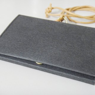 Photo business card holder (with hook) texture simple washed kraft paper