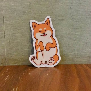 Shiba Inu daily turning belly small waterproof sticker SS0061