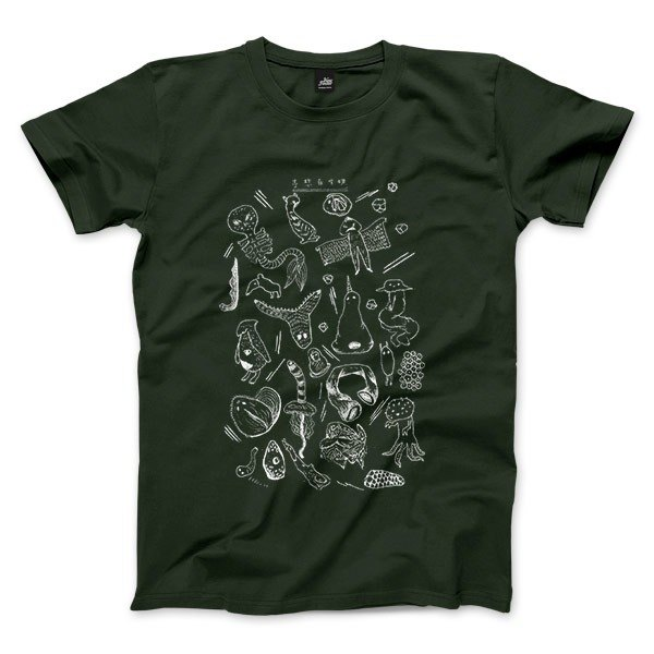 100 Biological expected - Forest Green - Unisex T-Shirt