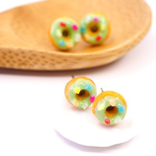 *Playful Design* Pistachio Mini Donuts Earrings