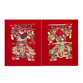Plus purchase - a pair of door god couplets