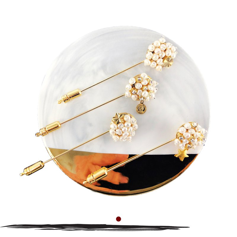 Elegant Japanese Style Pearl Brooch 【Boyrfriend Gift】【New Year Gift】【Star Pin】