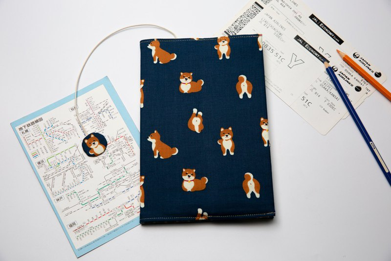 Meng Chai dog cloth book cover A5 / Book cover / Adjustable book cover / Book cover / Book cover