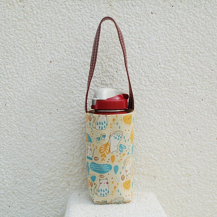 Cat umbrella umbrella bottle bag / beverage bag