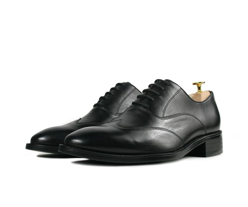 Blackened Classic Oxford Shoes-DD01A