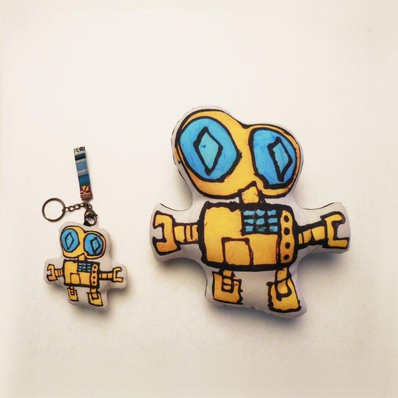 組合商品 -塗鴉圖畫【客製】手玩偶+小偶鑰匙圈吊飾