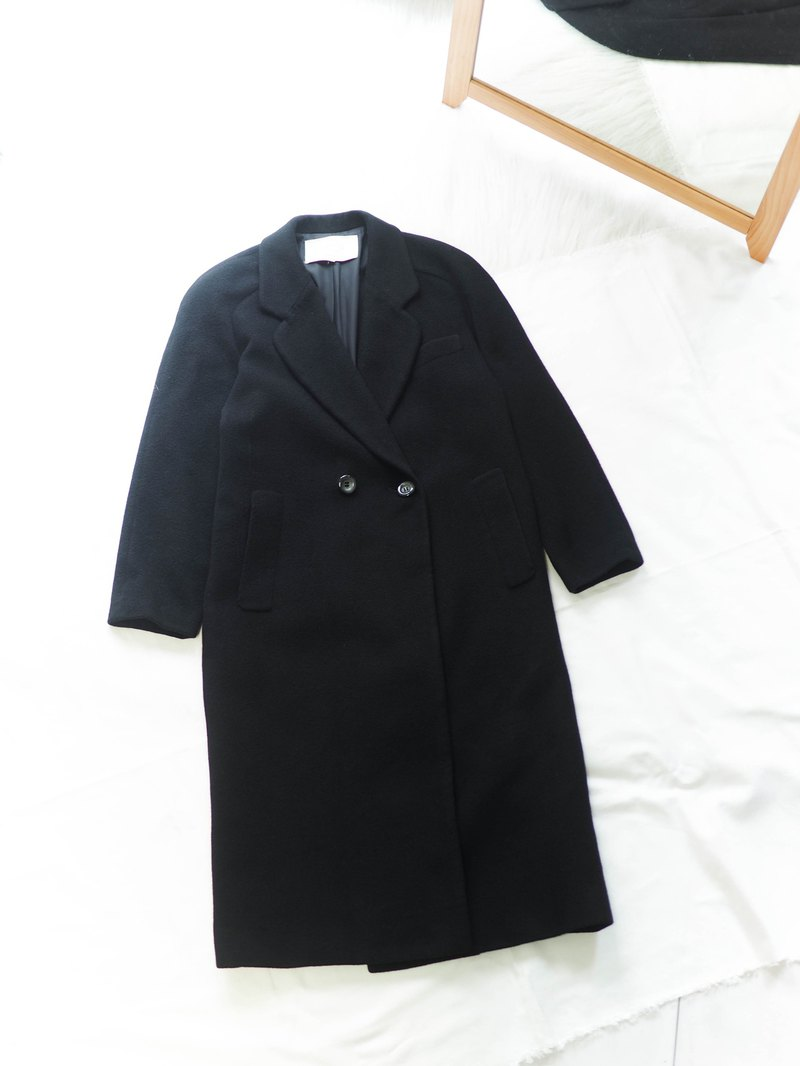 French dark night lapel rate warm winter antique cashmere coat cashmere overcoat