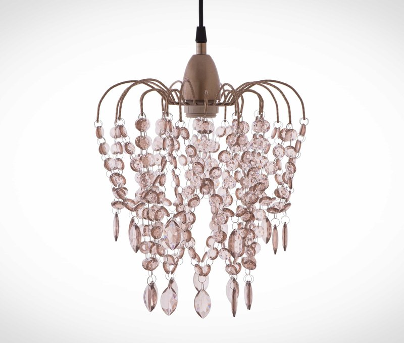 BNL00047- rose gold acrylic beads chandelier