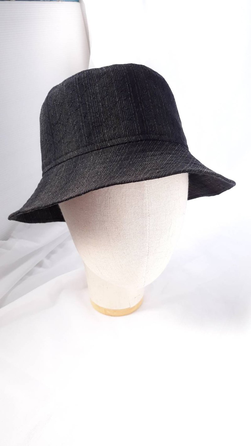 Black first dyed fine fisherman hat