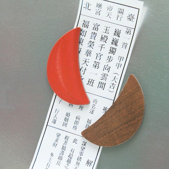 Taiwan Goodies Magnet - Red Wooden Divinatory Blocks