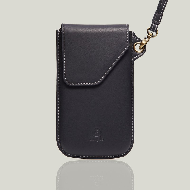 [Free Brand] Leather Phone Case | Deshler Dexler • iPhone X/XS- Dark Gray