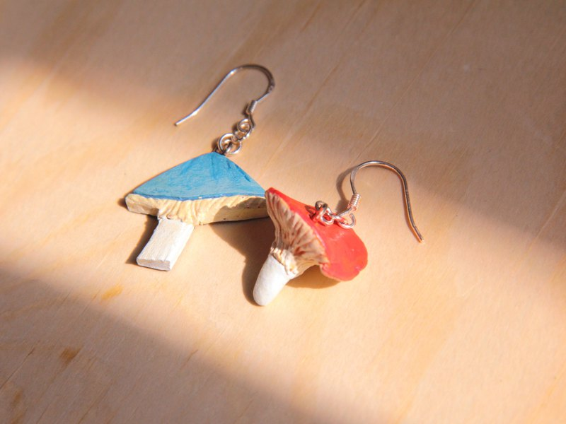Mushroom Clay Earrings