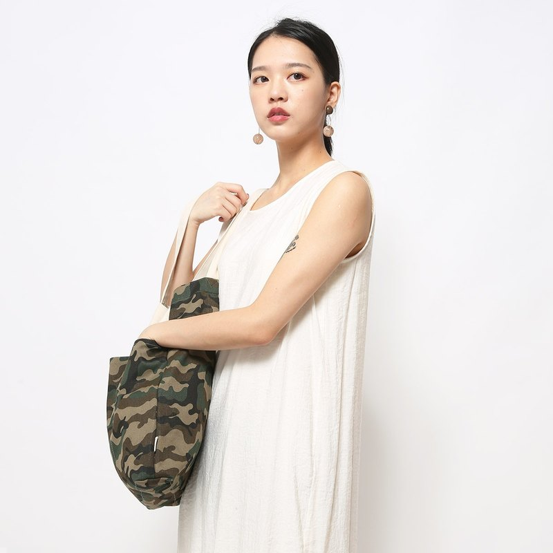 Five bag canvas bag is especially easy to use - classic camouflage