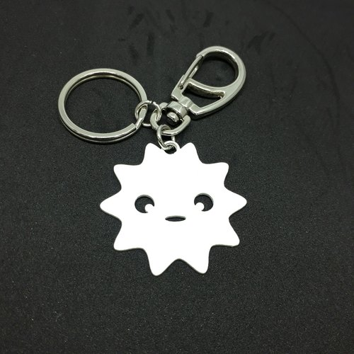 LAZYMARU-MA001015 small star key ring (white) Fighting accessories Taiwan's cultural and creative