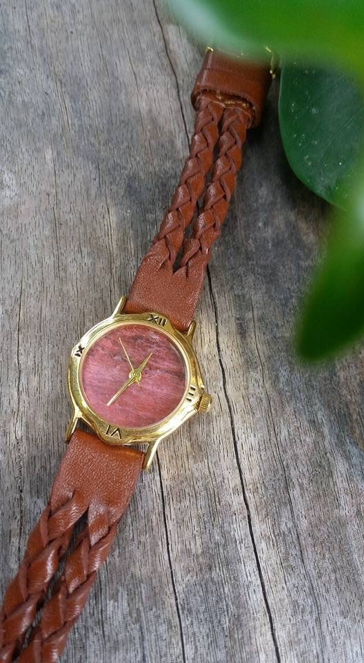 【Lost And Find】 Natural  Rhodochrosite watch