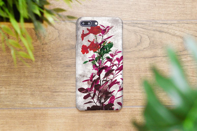 55-3 red flowers iphone caseสำหรับ iphone 6,7,8 plus iphone xs, iphone xs max