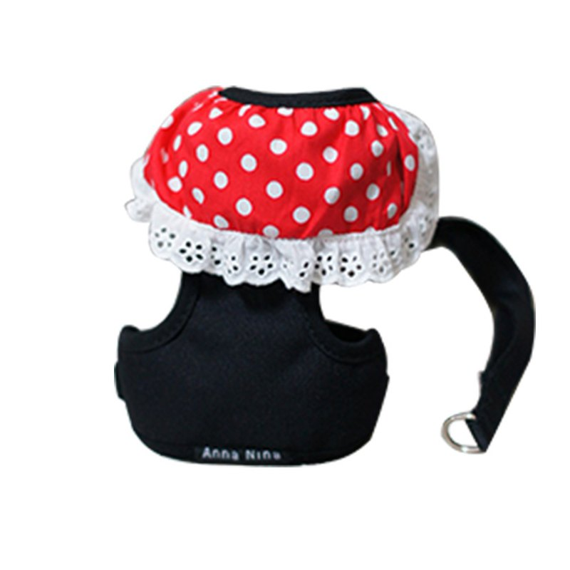 Pet chest back / chest strap cat dog general lace red and white