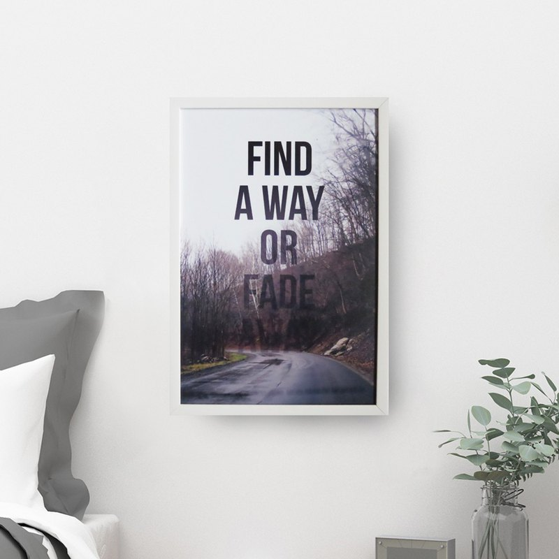 Magnet plate Find a Way Take your own road paintings, paintings, murals, room decoration, living room decoration
