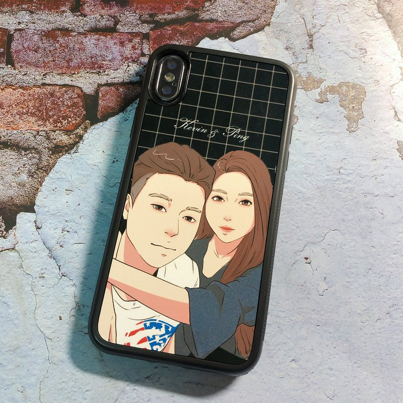 Customized Q version mobile phone case [金田一] Goose yellow area painter like Yan Hui hand-painted portrait