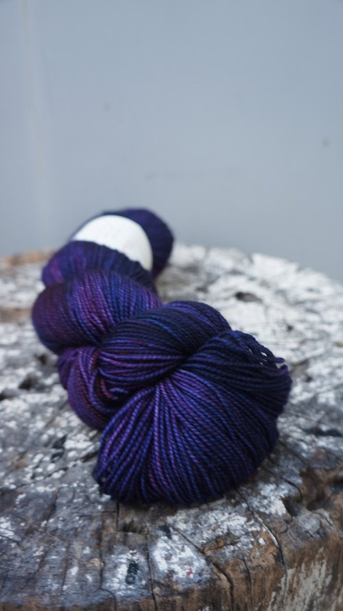 Hand dyed line. Sock yarn
