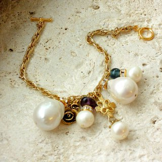 Baroque pearl antique lucky bracelet