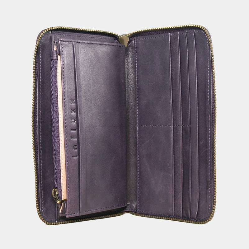 UN1 Everyday Leather Wallet – Purple
