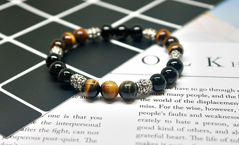 Natural stone X alloy bracelet _ totem => limited X1 #中性# boyfriend gift # father's day gift