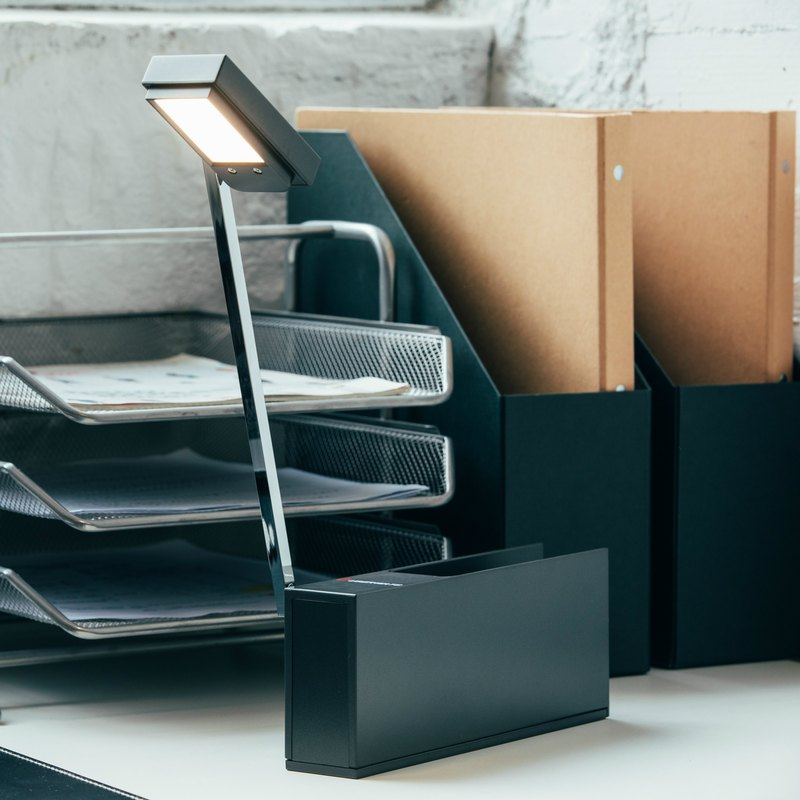 Rechargeable LED Desk Lamp - Black