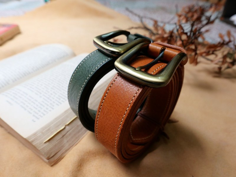 Vegetable tanned cowhide formula retro belt belt
