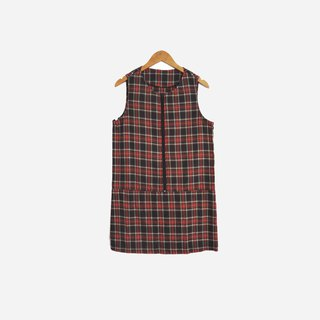Dislocation vintage / red and black check sleeveless dress no.593 vintage
